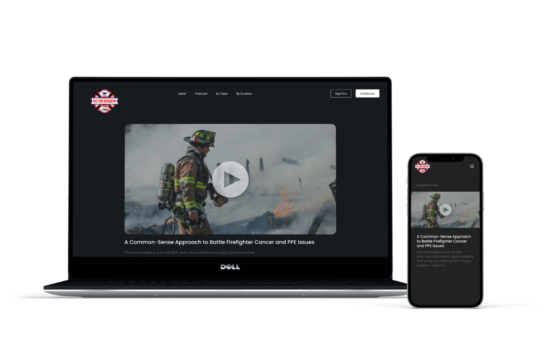 The Fire Academy on Laptop and Mobile